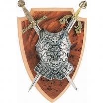 Панно: Мини-меч Эскалибр, мини-меч Тизона Д`Cида, кираса