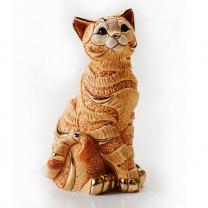 Статуэтка Рыжий кот полосатый