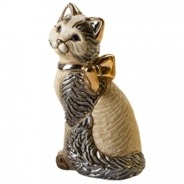 Статуэтка Кошка с ленточкой