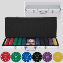 Набор для покера на 500 фишек с номиналом