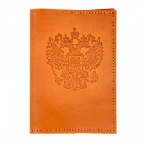 Обложка на паспорт Герб(беж)
