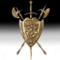 Щит настенный из бронзы большой