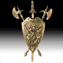 Щит настенный из бронзы малый