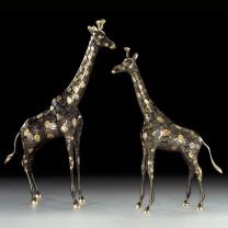 Статуэтка из бронзы Жираф пара