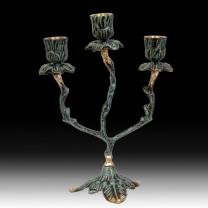 Канделябр на 3 свечи Цветы