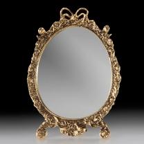 Зеркало настольное в бронзовой оправе