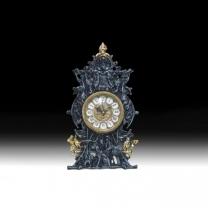 Часы настольные из бронзы Охота