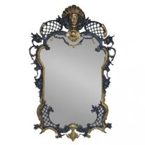 Зеркало настенное в бронзовой оправе