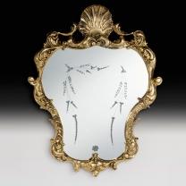 Зеркало настенное Принцесса в бронзовой оправе