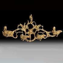 Вешалка настенная из бронзы на 4 крючка