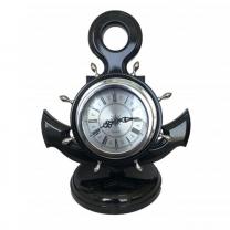 Часы настольные Якорь черный