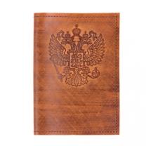Обложка на паспорт Герб (св.коричн.)