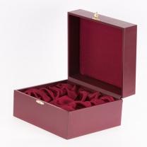 Подарочный футляр для подстаканника с ложкой красный