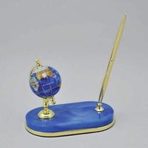 Глобус настольный каменный на подставке с ручкой