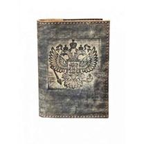 Обложка на паспорт Герб (темн.серый)